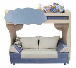 двухъярусная кровать с диваном Еврокнижка